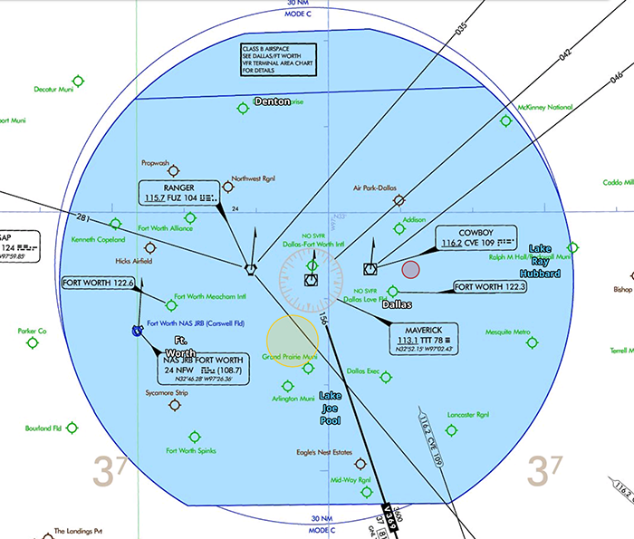 class b airspace IFR